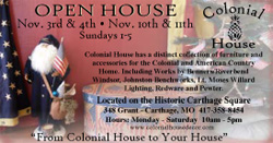 Colonial House Ad